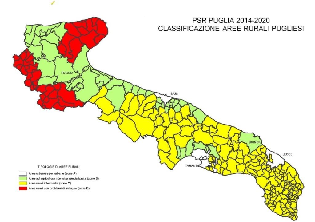Classificazione aree rurali pugliesi